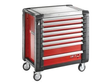 Jet.8M4 Roller Cabinet 8 Drawer Red